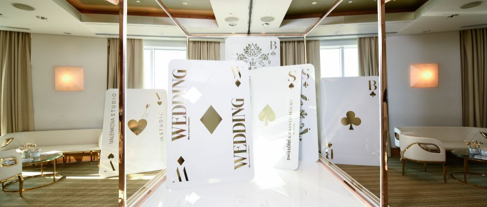 Wedding above the sky