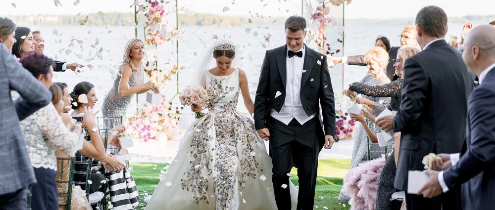 Как происходит торжественная свадебная церемония